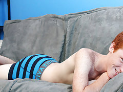 Cute Redhead Alan Parish lays back for a sexy interview with the director and a hot jackoff sesh young gay twinks at Boy Crush!