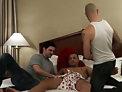 Needles to say, when Sam and Johnny hit the scene and Brad got his first look at their huge cocks, he could not cool one's heels to take these tw