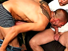 As the scene progresses, they trade off sucking each others' cocks and get into some heaving duty ball licking and deep throating manga hardcore