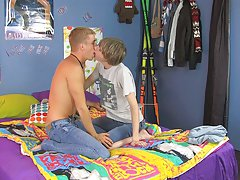 They begin by sucking each others' dicks before taking turns being top and bottom gay twinks fucked