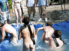 I mean its not embarrassing enough playing naked in a nasty fake pool blue man group fresno c