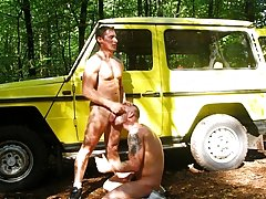 No time for hellos as these two horny guys get straight into it florida gay outdoors