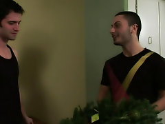 Is it a vacation wreath gone wrong, or a wreath delivering gone oh so right gay hunk sex