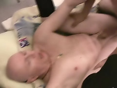 Jake loves feeling his lover's jizz all over his dick, as he rubs it in in support of good measure sucks fucks mature se