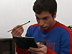 So he starts with his fathom-up applying some powder and blusher first gay solo masturbation vide