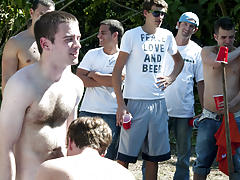 as punishment for losing these unfortunate pledges had to suck each their off in front of their brothers and fellow pledges male mutual masterbation g