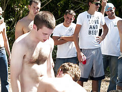 I mean its not embarrassing enough playing naked in a nasty fake pool men shirtless group