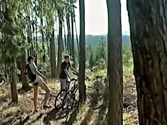 Young guys are full of hormones and horny most of the time - and these  are no different... Two young friends biking into the woods gay naked outdoors