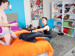 It's early evening in a beautiful home movies twinks gay