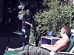 Go b investigate obsolete this hunky stud invite his kind-hearted twink lover to his backyard where his curvy muscles and firm, fat cock get exposed a