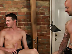 Sam and Johnny are visited by a christian minister spreading the word of god outdoor group gay sex fuck