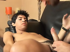 Hungry and horny, the stud starts mouthing the twink's tasty exotic lawless hardcore gay facial