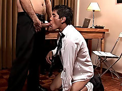 The future employee then falls on his knees to blow this magnificent pork sword thailand twink philippine