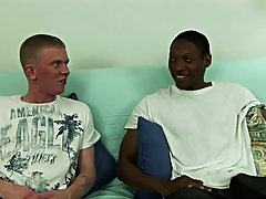 Jamal was getting so turned on by the blowjob, he kept muttering for Sean to 'suck that dick gay interracial big