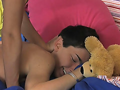 It starts with Colby London and Dustin Reeves making out in bed gay twinks black