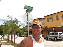 Once he does that it's simple enough to convince him to suck some more on the roof top of a miscellaneous building in Miami gay outdoor sex pictu