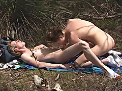 Marty wanted to pump so he pushed Mark over and drilled it in sideways, hitting that ass wide and hard gay sex   outdoors