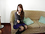 Siting and keep jerking on young lady :) masturbation of tranny