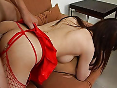 This sweet little submissive oriental ho is new to the menu at Wong's, having only experienced small Chinese cocks she finds Double O's chop